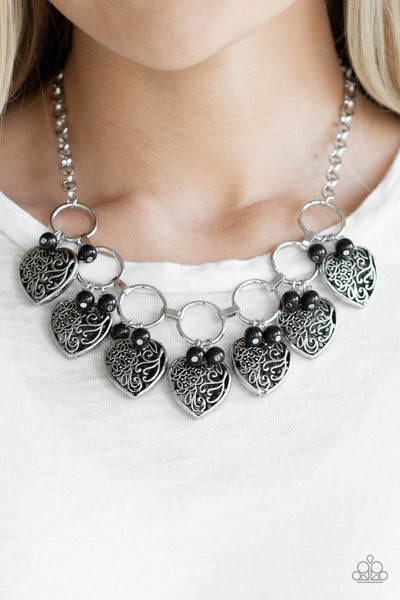 Very Valentine - Black Necklace