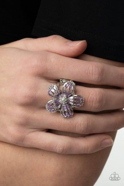 Botanical Ballroom - Purple Ring