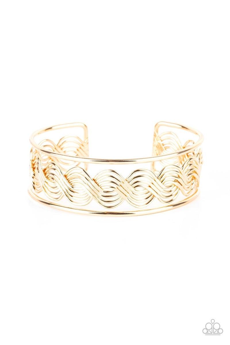 WEAVE An Impression - Gold Cuff