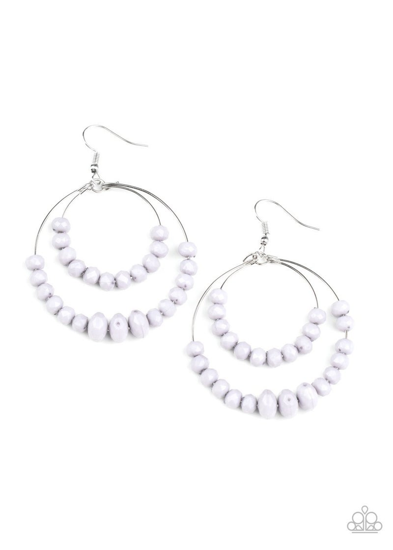Paradise Party - Silver Earrings