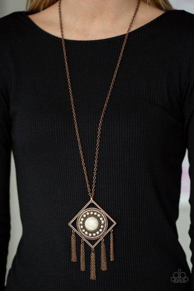 Sandstone Solstice - Copper Necklace