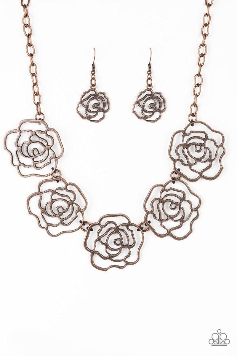Budding Beauty - Copper Necklace