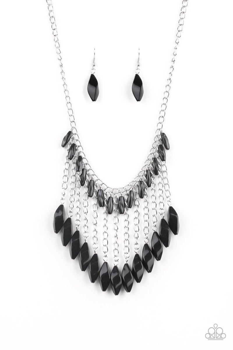 Venturous Vibes - Black Necklace