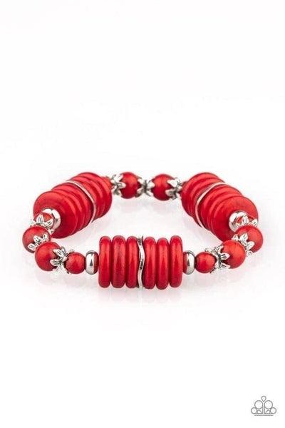 Sagebrush Serenade - Red Stretchy Bracelet