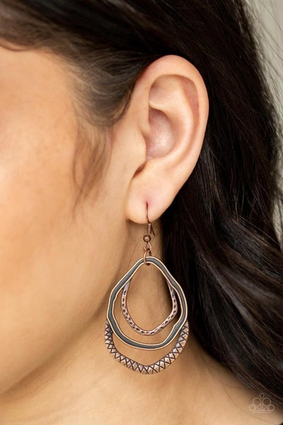Canyon Casual - Copper Earrings