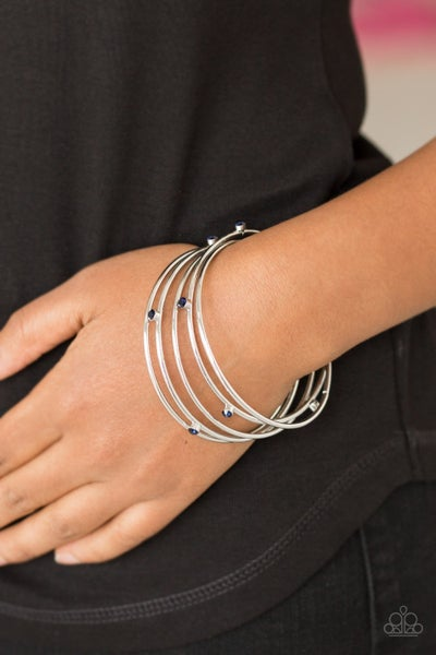Delicate Decadence - Blue Bangles
