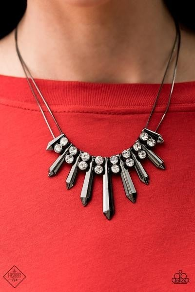 Dangerous Dazzle - Gunmetal Necklace - May 2021 Fashion Fix