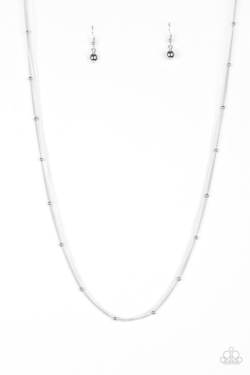 Colorfully Chic - White Necklace