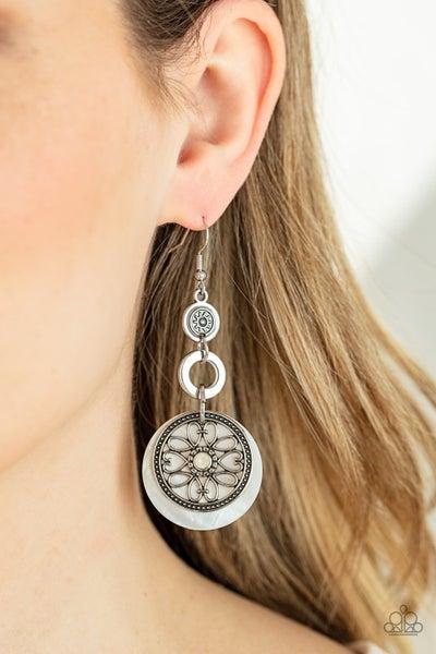 Royal Marina - White Earrings