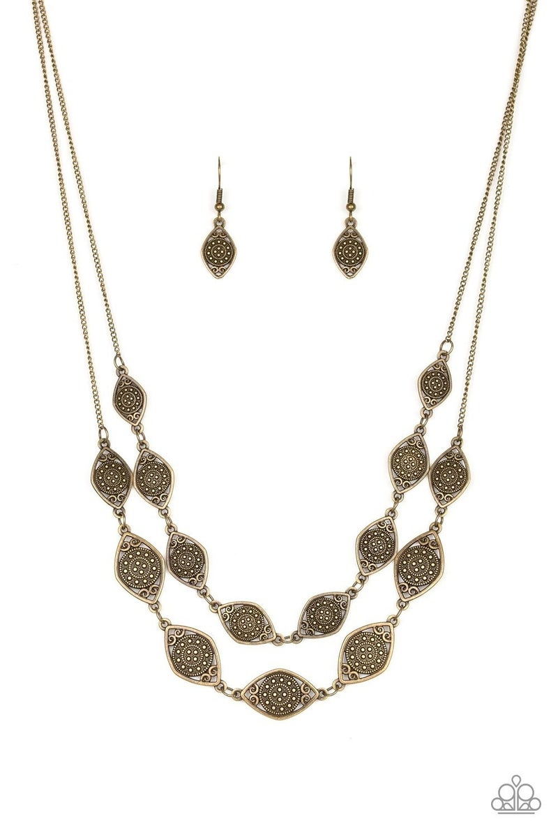 Make Yourself At HOMESTEAD - Brass Necklace