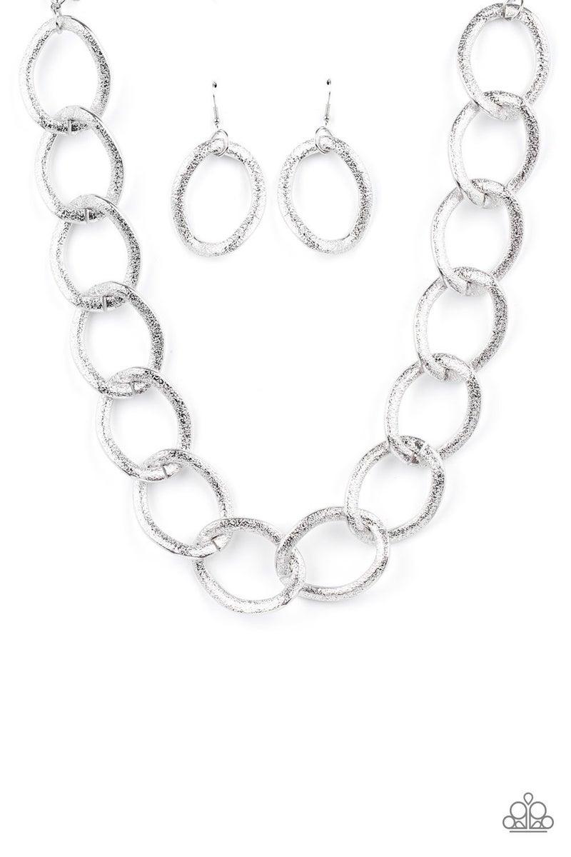 Industrial Intimidation - Silver Necklace