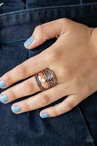 Texture Tantrum - Copper Ring