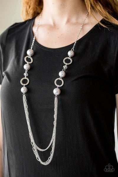 Its About SHOWTIME! - Silver Necklace