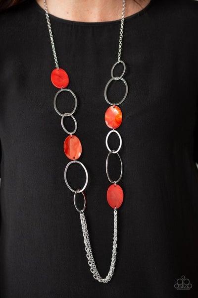 Kaleidoscope Coasts - Red Necklace