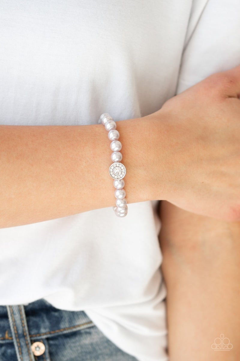 Follow My Lead - Silver Stretchy Bracelet