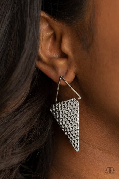 Have A Bite - Silver Earrings