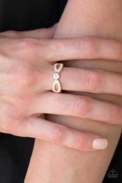 Extra Side Of Elegance - Rose Gold Ring