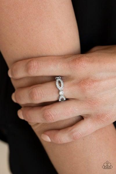Extra Side Of Elegance - White Ring
