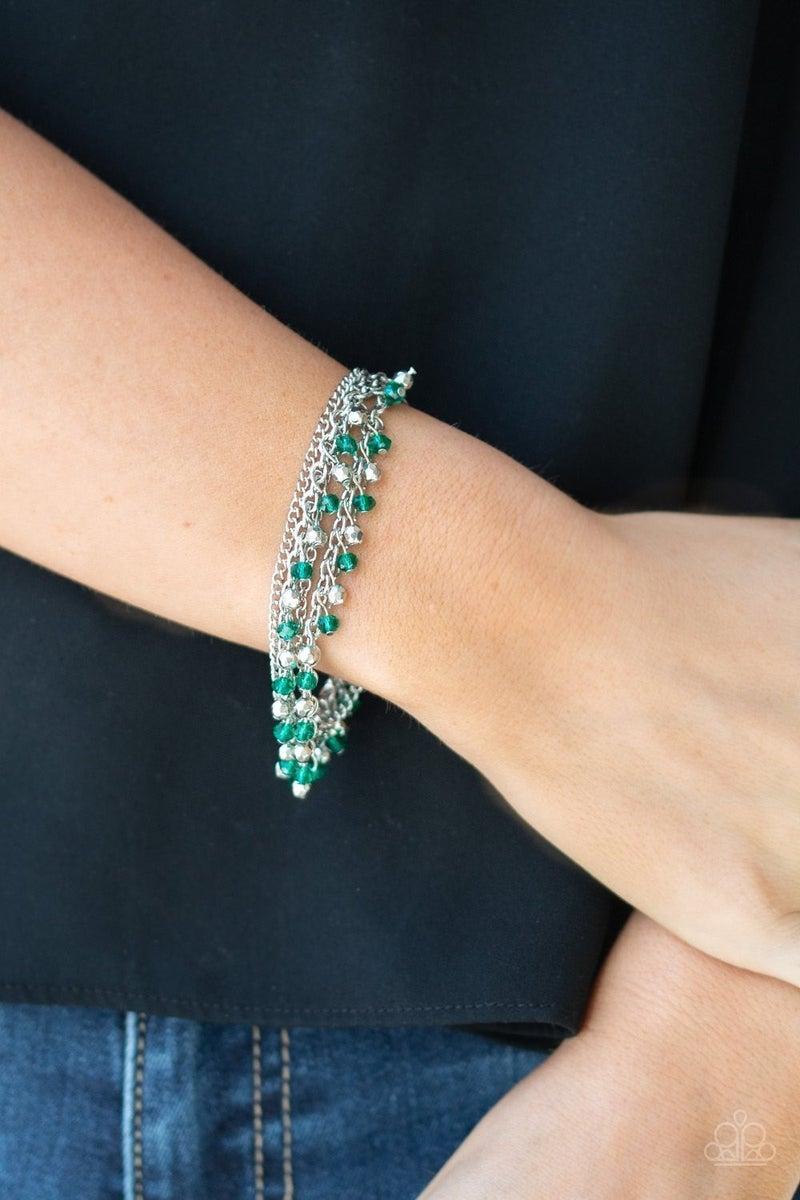 Cash Confidence - Green Clasp Bracelet