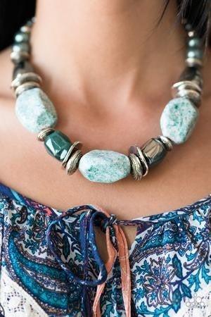 In God Glazes - Blue Necklace