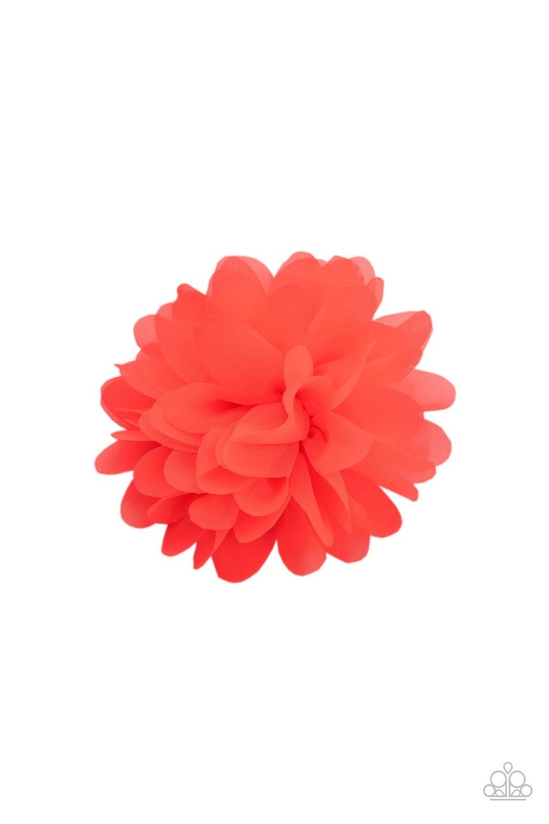 Blossom Blowout - Orange Hair Clip