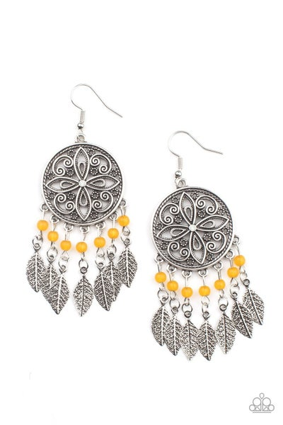Free-Spirited Fashionista - Orange Earrings
