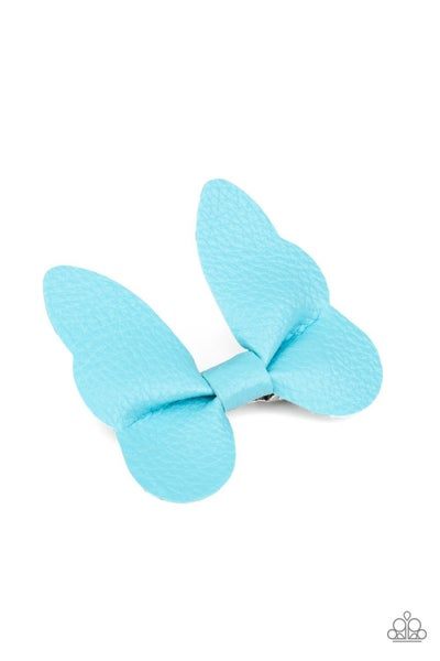Butterfly Oasis - Blue Hair Clip