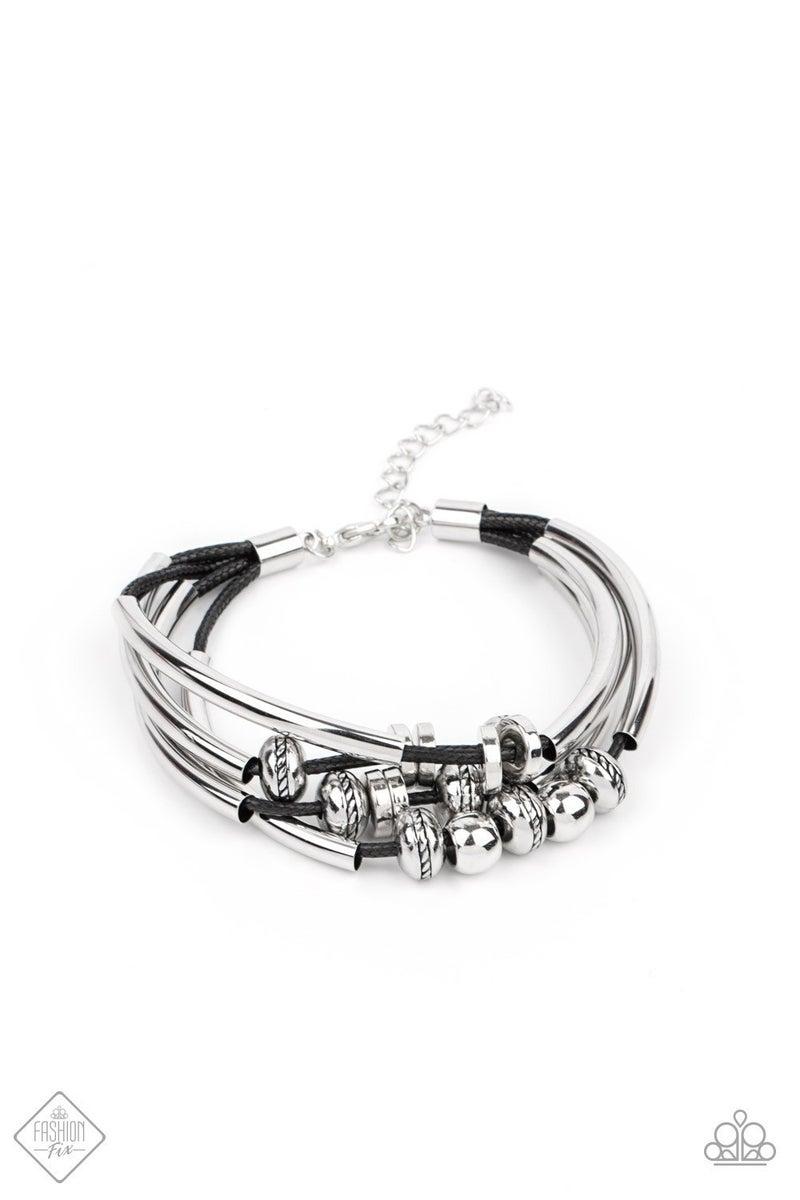 We Aim To Please - Black Clasp Bracelet - April 2021 Fashion Fix