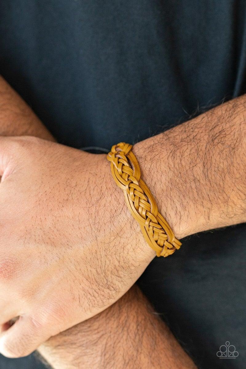 Too Close To HOMESPUN - Yellow Urban Bracelet