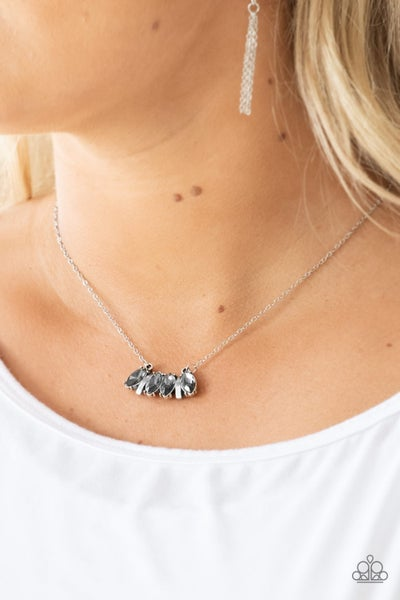 Deco Decadence - Silver Necklace