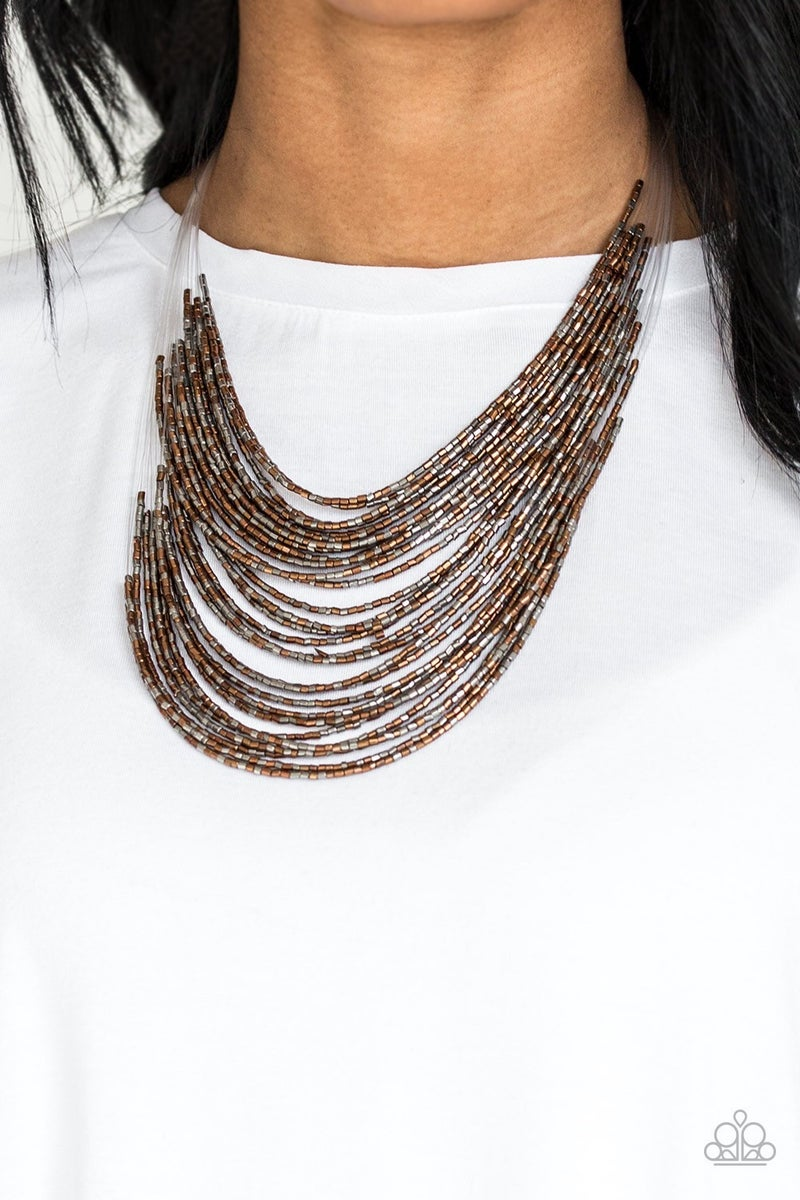 Catwalk Queen - Multi Seed Bead Necklace