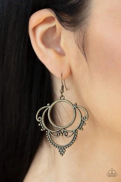 Metallic Macrame – Brass Earrings