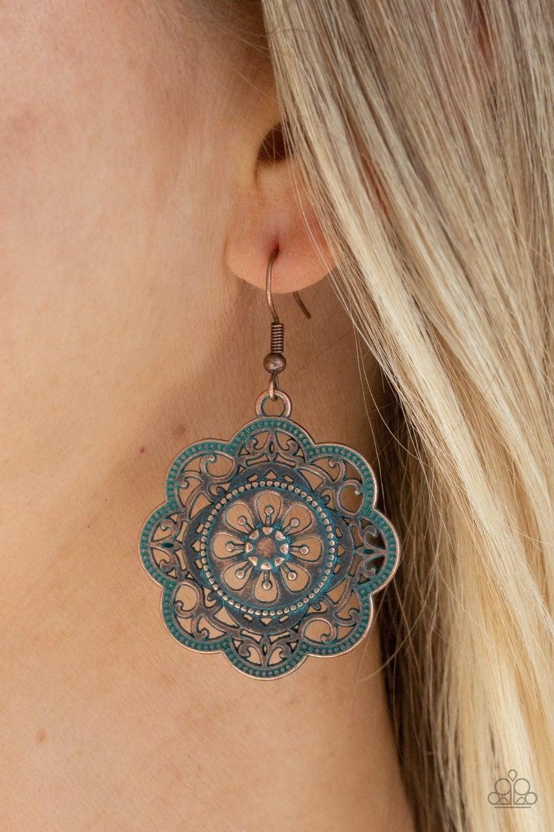 Western Mandalas - Copper Earrings
