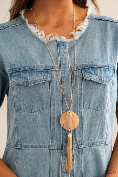 Up FAUX Grabs - Orange Necklace