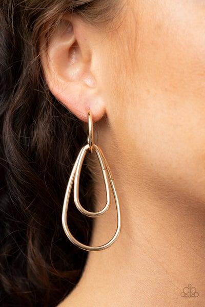 Droppin Drama - Gold Earrings