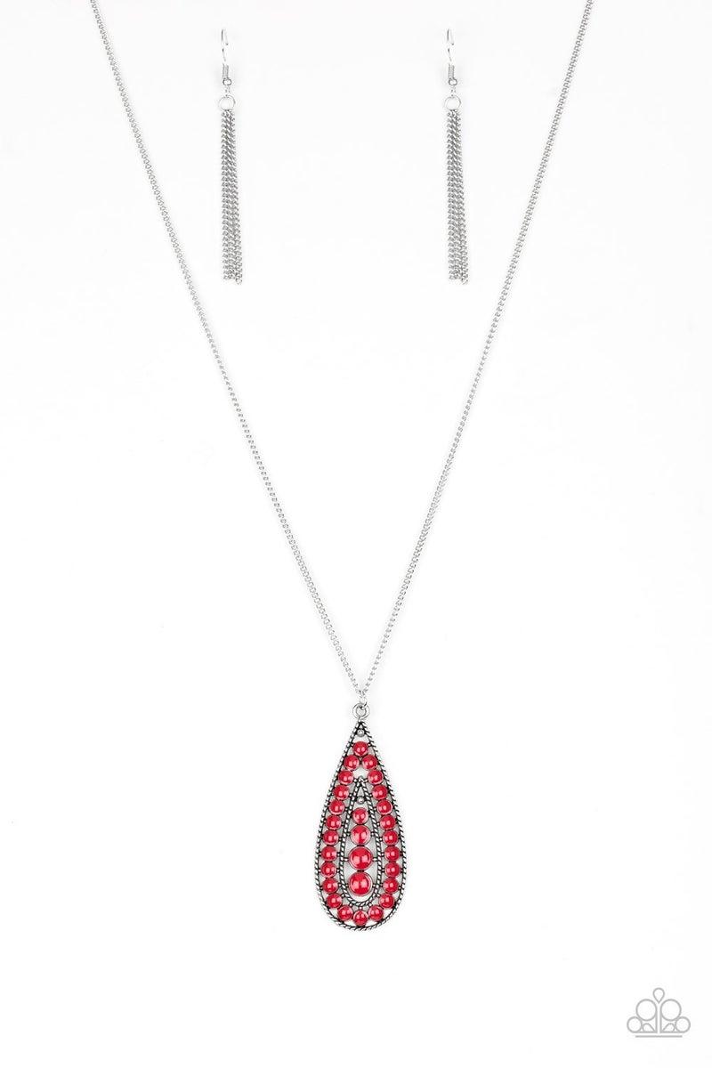 Tiki Tease - Red Necklace