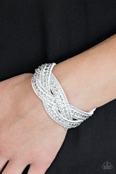 Bring On the Bling - White Snap Wrap