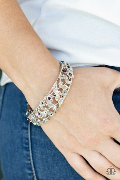 Ripe for the Picking - Purple Hinged Bracelet