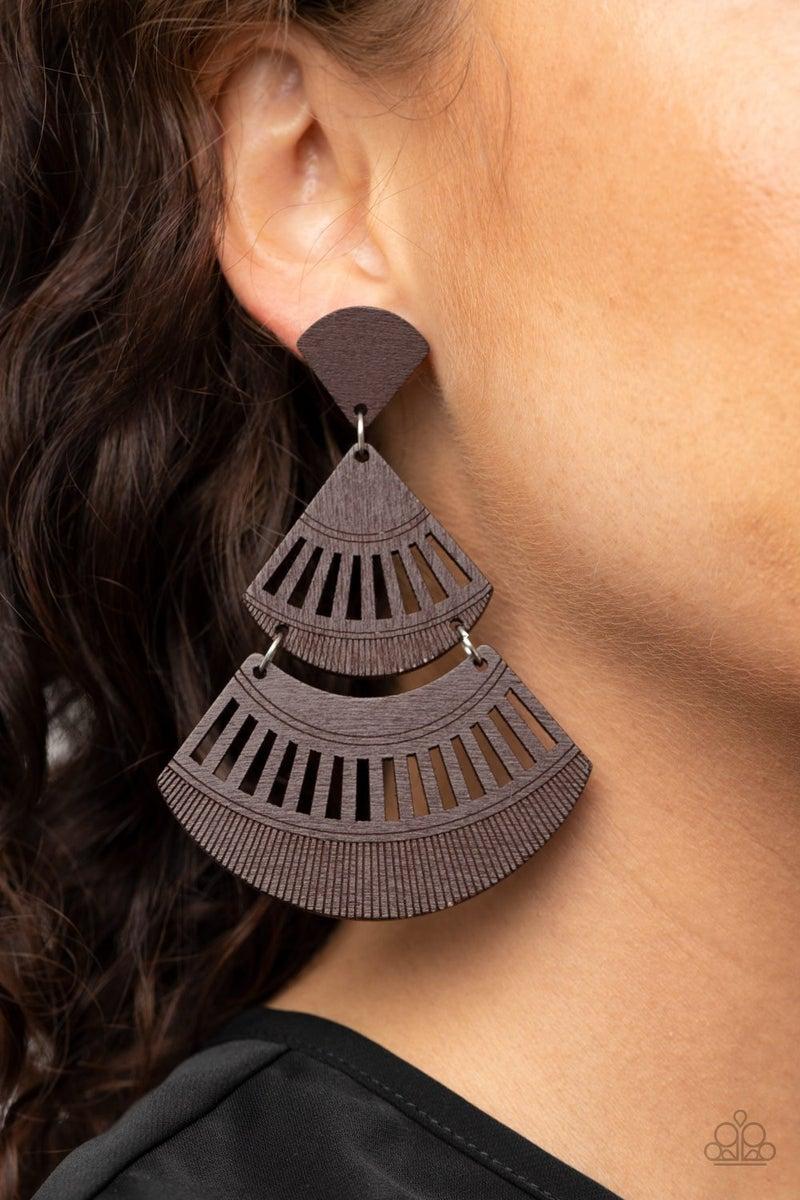 Oriental Oasis - Brown Earrings