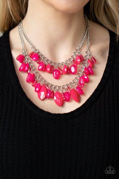 Midsummer Mixer - Pink Necklace