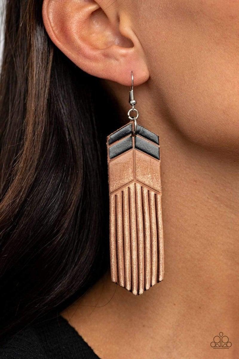 Desert Trails - Black Earrings