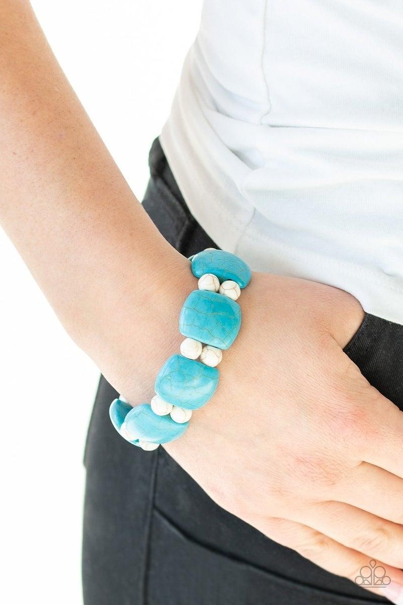 Don't Be So Nomadic - Blue Stretchy Bracelet