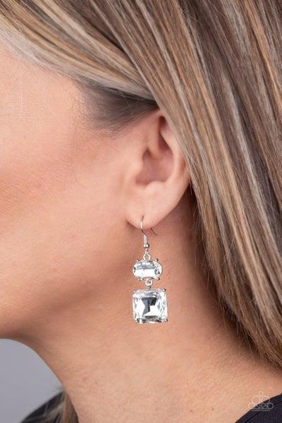 All ICE On Me - White Earrings