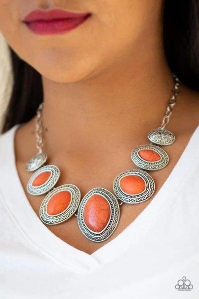 Sierra Serenity - Orange Necklace