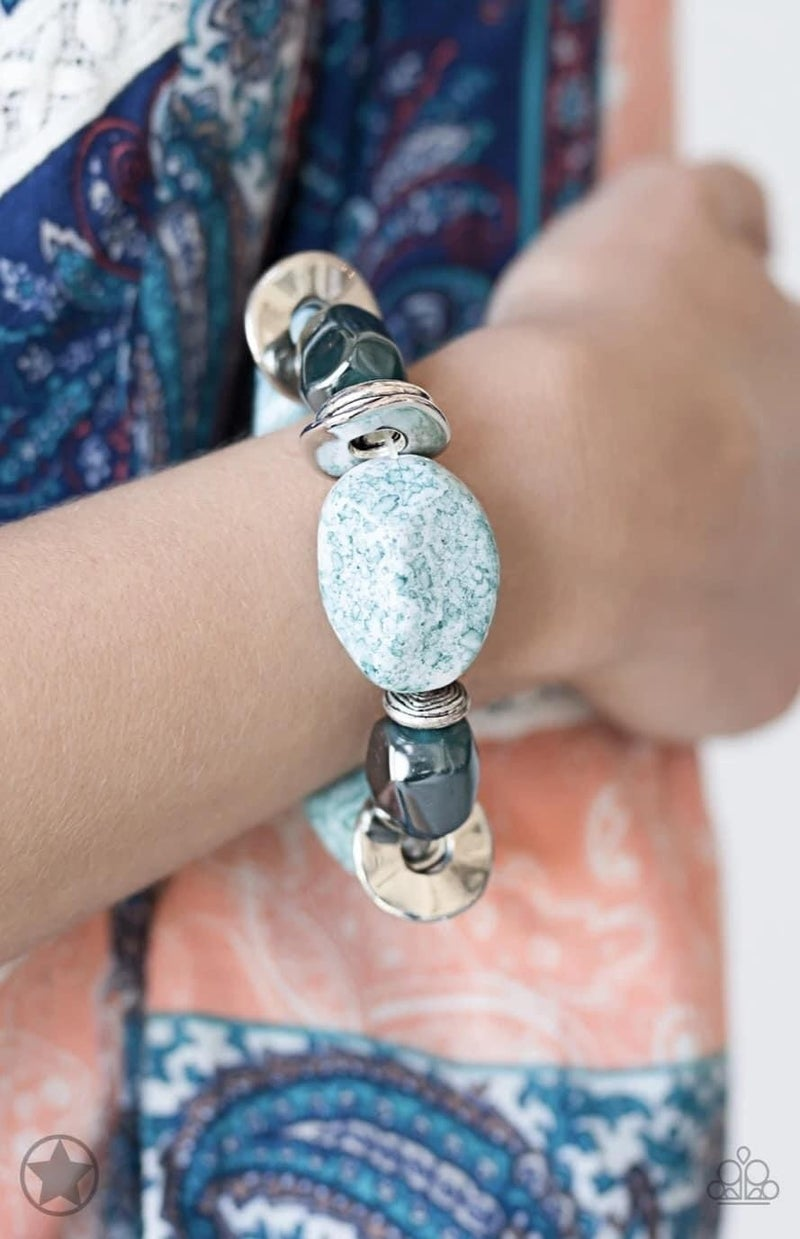 Glaze of Glory - Blue Stretchy Bracelet