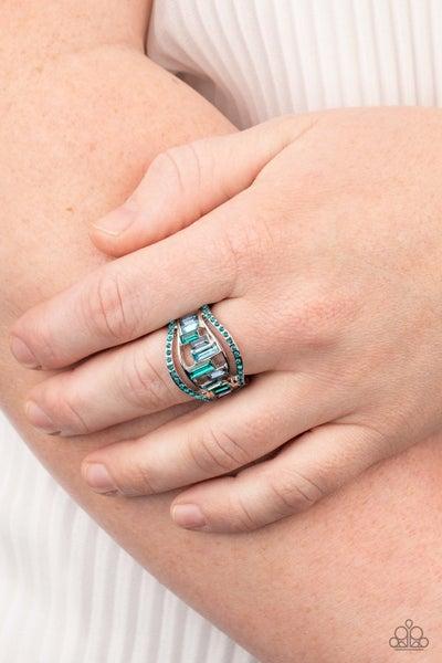 Treasure Chest Charm - Blue Ring