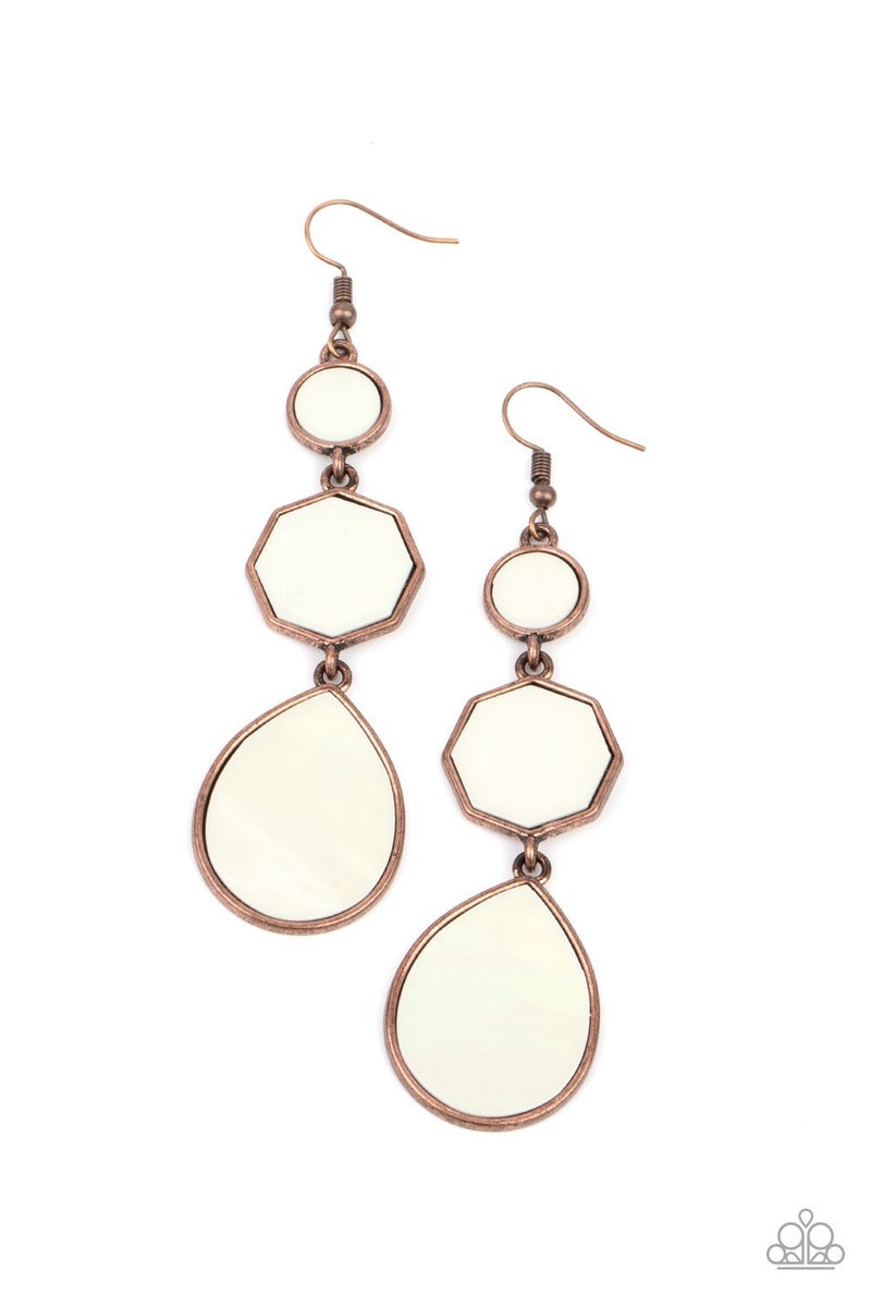 Progressively Posh - Copper Earrings