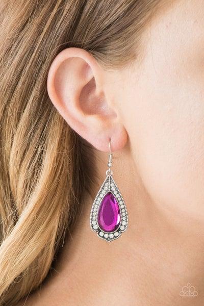 Superstar Stardom - Pink Earrings