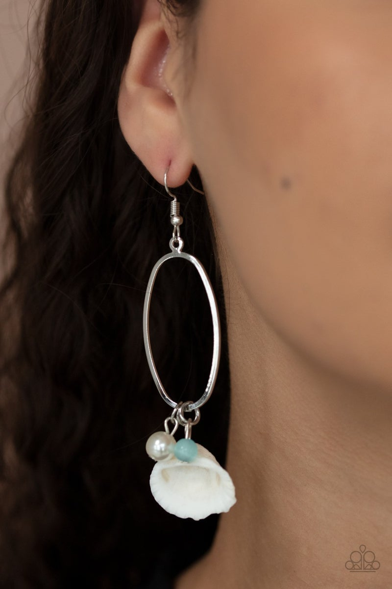 This Too SHELL Pass - Blue Earrings