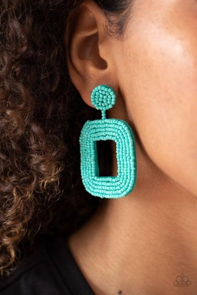 Beaded Bella - Blue Earrings